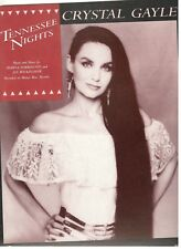 """CRYSTAL GAYLE """"TENNESSEE NIGHTS"""" SHEET MUSIC-1989-RARE-BRAND NEW-MINT CONDITION!"""