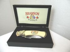 Pocket Knife collectors edition in box  gold color stainless steel blade YD7