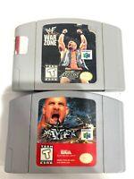 WWF War Zone & WCW MAYHEM Nintendo 64 N64 Game Lot Tested + Working!