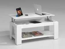 Ansel Lift Up Top Storage Coffee Table Living Room Furniture Chunky White