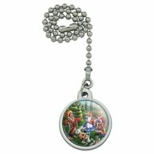 Alice in Wonderland Garden Party Ceiling Fan and Light Pull Chain