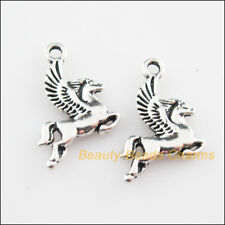 10Pcs Tibetan Silver Tone Animal Horse Wings Charms Pendants 15x20mm