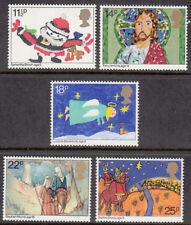 GB estampillada sin montar o nunca montada sello conjunto 1981 Navidad Niños Dibujo SG 1170-1174 10% de descuento por 5+