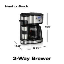Coffee Maker Single Serve Full 12-Cup Coffee Pot 2-Way Brewer Set Programmable
