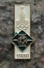 1980 Moscow Russia Summer Olympics Games Soccer Football Olympic Event Pin Badge