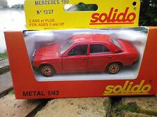SOLIDO FRANCE 1337 MERCEDES 190 rouge comme neuve dans sa boite d'origine.