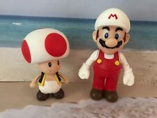 NINTENDO SUPER MARIO BROTHERS PVC FIGURES MARIO & TOAD CAKE TOPPERS PLAY