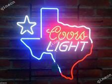 Rare New Style Coors Light Texas State Map Outline Star Beer Bar Neon Sign