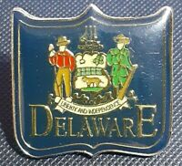 Delaware State Seal Hat Lapel Tie Tack Travel Pin