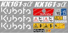 Kubota KX161-3 Mini Aufkleber Bagger Komplettset mit sicherheit-warnzeichen