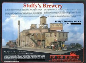 FINE SCALE MINIATURES  STUFFY'S BREWERY OOP NOS