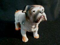 Vintage Bulldog Figurine Ceramic Porcelain Made in Japan VGC