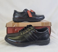 Cushion walk flexible comfort black men's casual trainers shoes smart UK 8 BNIB