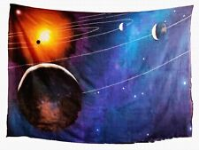 Planet Galaxy Star Space Landscape 3D Tapestry Wall Hanging Mystic Psychedelic