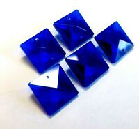 6 Cobalt Blue 22mm Square Chandelier Crystals Suncatcher Prisms