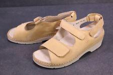 C1109 Berkemann Toronto Damen Komfort Fußbett Sandalen Leder beige Gr. 36,5