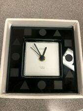 Sasaki Crystal Black Clock