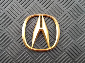 OEM Acura Body/Dash/Trunk Emblem. GOLD color. 8.2cm