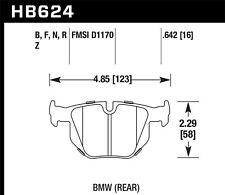 Disc Brake Pad Set-Coupe Rear Hawk Perf HB624B.642