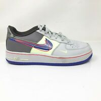 Nike Girls Air Force 1 Low CT1628-001 Gray Black Running Shoes Lace Up Size 5Y