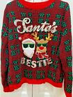 No Boundaries cute Ugly cute Christmas sweater - Santa's Bestie - Jr. XL -15-17