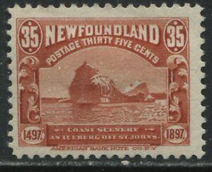 Newfoundland 1897 Cabot 35 cents mint o.g. hinged