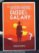"The Hitchhikers Guide to the Galaxy Book Cover 2"" X 3"" Fridge Magnet."