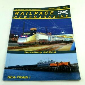 Railpace News Magazine Newsmagazine Train Illustrated Picture Info August 2000