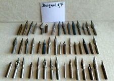 Lot of 46 assorted nibs from BAIGNOL & FARGON   France - dip ink pen