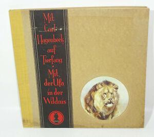 Mit Hagenbeck auf Tierfang Mit der Ufa in der Wildnis Sammelbilderalbum 1930er !