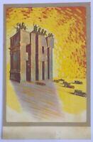 FIAT cartolina pubblicitaria viaggiata illustratore Romano G.