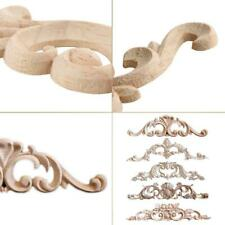 DIY Unpainted Wooden Carved Applique Furniture Mouldings Decal Home Decor Crafts