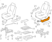 MB M W163 Right Side Seat Track-Release Cover A1639195220 7214 NEW GENUINE