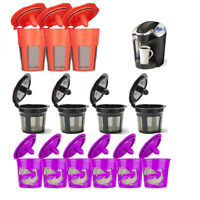 Refillable Reusable K-Cup K Carafe Coffee Filter Pod Fit Keurig 2.0 1.0 Coffee E