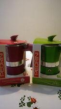 caffettiera 2 tazze marca pedrini colorate profumo di caffè alluminio coffee