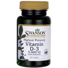 Swanson Vitamin D-3 - Highest Potency 5,000 Iu (125 mcg) 250 Sgels