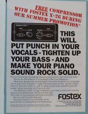 vintage magazine advert 1989 FOSTEX X 26 / COMPRESSOR