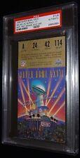 1992 DALLAS COWBOYS SUPER BOWL XXVII CHAMPIONS TICKET TROY AIKMAN MVP PSA RARE!!