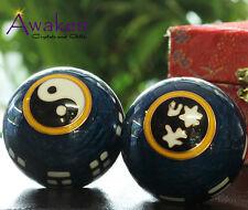 45mm Chinese Health Meditation Balls GIFT BOX Feng Shui Stress Balls w Chimes