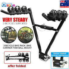 "3 Bicycle Bike Car Rear Rack Bike Carrier SUV Holder 2"" Tow Ball Mount"