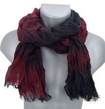 Men's Scarf black burgundy striped von Ella Jonte Scarf red Scarf new