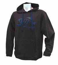 G Loomis Large Black W Blue Fish Logo Hoodie Pullover Sweatshirt GHOODLBK New