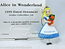 1999 Grolier Alice in Wonderland Annual Disney Ornament Porcelain Dinah the Cat