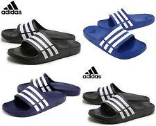 Adidas Mens Duramo Slide Flip Flops Slippers Sandals Slip on Summer Beach Shoes