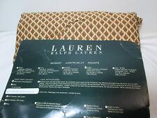 """NEW Ralph Lauren Diamond King Bedskirt 78""""x80"""" ~ Brown, Beige NIP"""