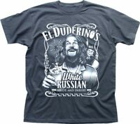 The DUDE Big Lebowski ABIDE poster Jeff Bridges El Duderino grey t-shirt 9277