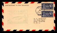 Canada 1939 F18-14a FFC Newfoundland to NB - L8296
