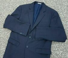 Banana Republic Men's Sport Coat Jacket Tailored Fit Check Navy Blue Size 40R