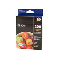Genuine Epson 200 Ink Value 4 Pack C13T200692 XP-200 XP-400 WF-2520 WF-2540