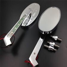 For Honda CBR600 900 929 954 1000RR OVAL Shape LED turn signals Running Mirror